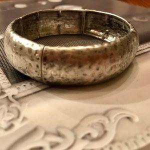 Oxidized Silver Stretch Bracelet